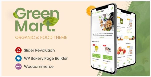 قالب وردپرس Greenmart 1