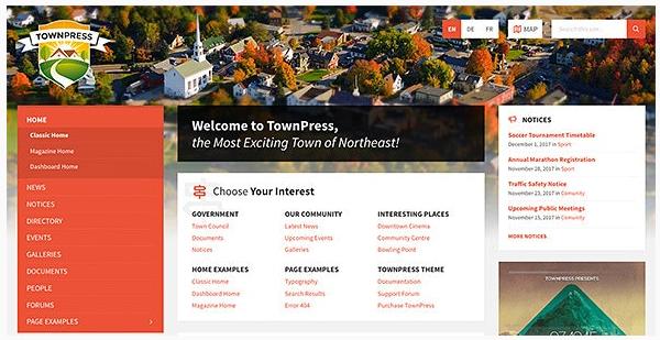 قالب وردپرس Townpress 1