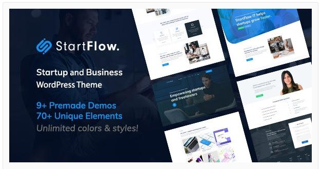 قالب وردپرس startflow 1