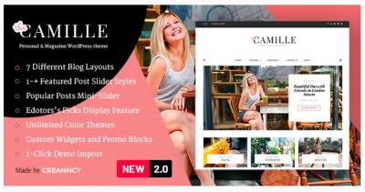 قالب وردپرس Camille 2