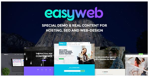 قالب وردپرس EasyWeb 1