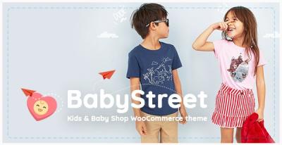 قالب وردپرس Baby Street