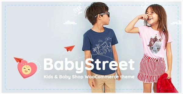 قالب وردپرس Baby Street 1