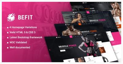 قالب وردپرس Be Fit Fitness 2