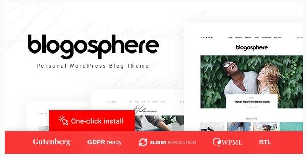 قالب وردپرس Blogosphere 1