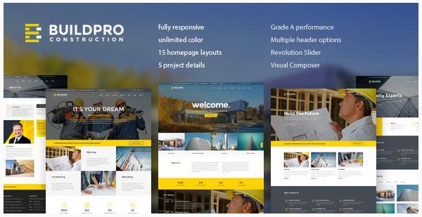 قالب وردپرس Buildpro 1
