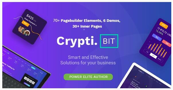 قالب وردپرس Cryptibit 1