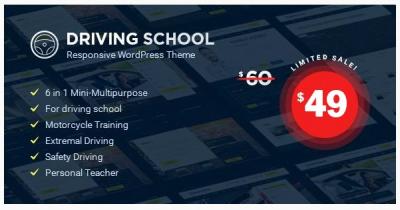 قالب وردپرس Driving School 2