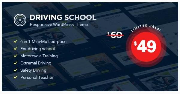 قالب وردپرس Driving School 1