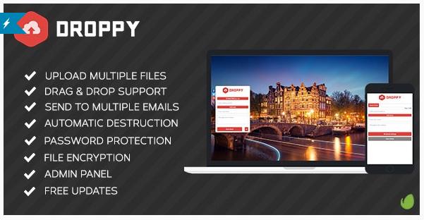 اسکریپت اشتراک گذاری و ارسال فایل Droppy 1