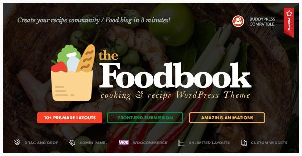 قالب وردپرس Foodbook 1