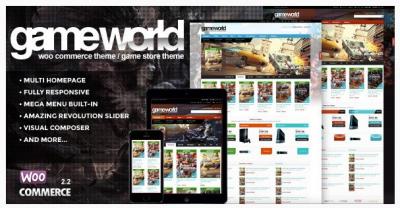 قالب وردپرس Game world 2