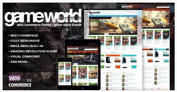 قالب وردپرس Game world 1