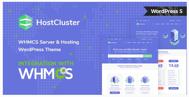 قالب وردپرس Hostcluster 1