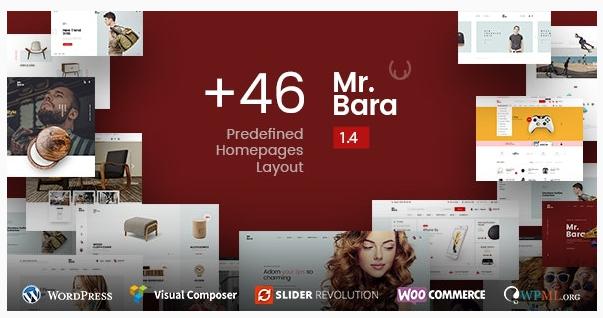 قالب وردپرس Mr Bara 1