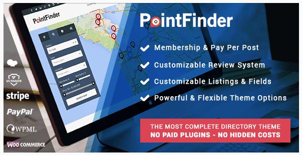 قالب وردپرس Poin Finder 1