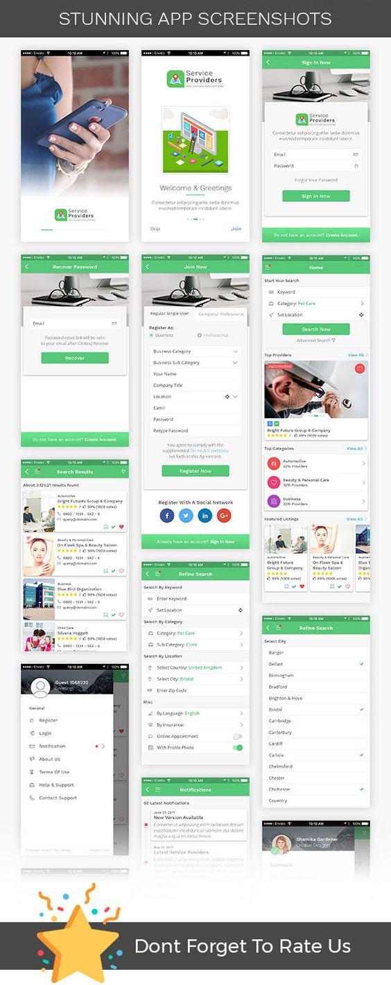 سورس اپليكيشن جستجو مشاغل Listingo 4