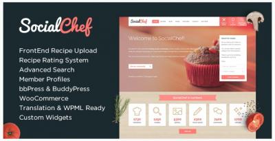 قالب وردپرس Social Chef 2