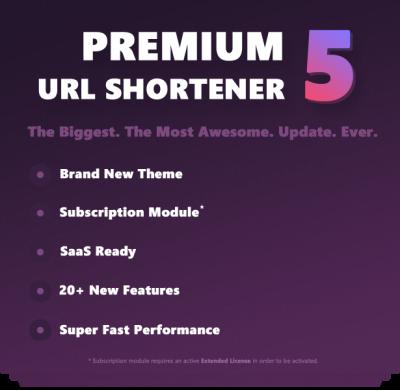 اسكريپت كوتاه كننده آدرس ها Premium URL Shortener 4