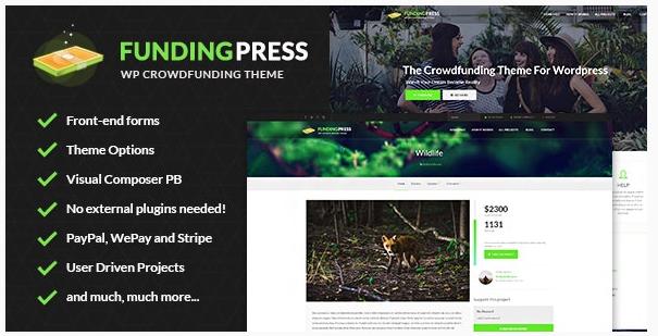 قالب وردپرس Funding Press 1