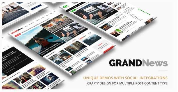 قالب وردپرس Grandnews 1