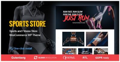 قالب وردپرس Sports Store 2