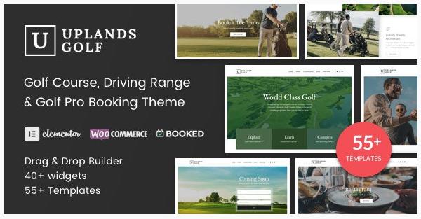 قالب وردپرس Uplands Golf 1
