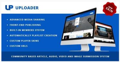 قالب وردپرس Uploader 2