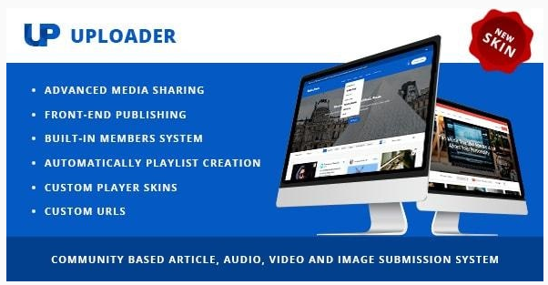 قالب وردپرس Uploader 1