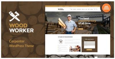 قالب وردپرس Woodworker 2
