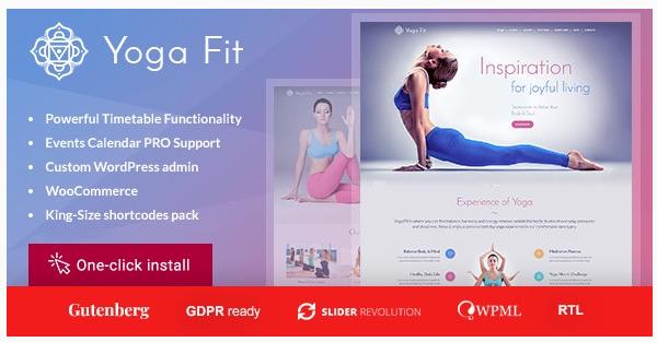 قالب وردپرس Yoga 1