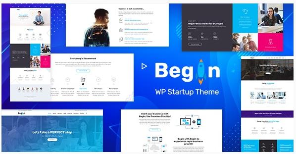 قالب وردپرس Begin Startup 1
