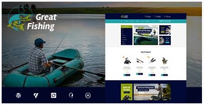 قالب وردپرس Fishing and Hunting 2