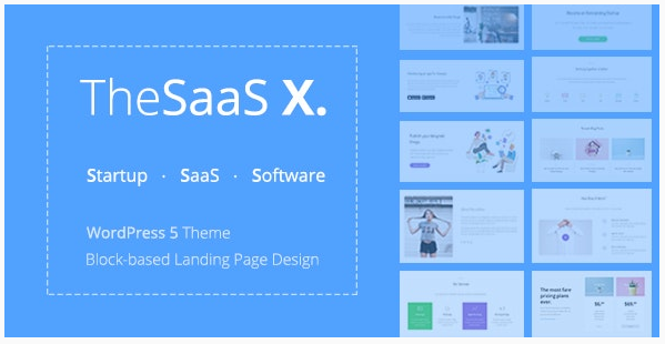 قالب وردپرس The Saas X 1