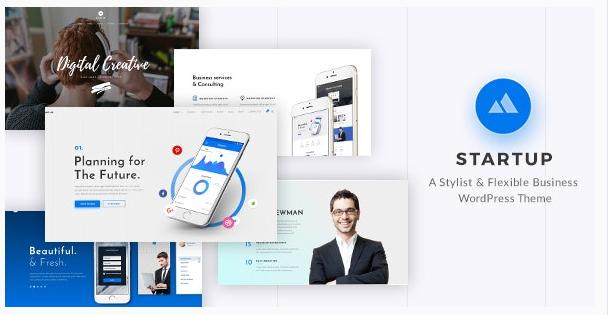 قالب وردپرس Startup 1