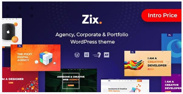قالب وردپرس Zix 1