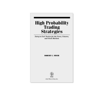 High Probability Trading Strategies 1